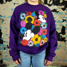 Load image into Gallery viewer, Mickey Mouse in Sea of Flowers - Mickey & Co sz L/XL