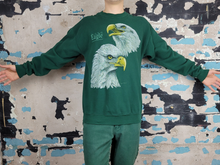 Load image into Gallery viewer, Bald Eagle Sweatshirt - Green & Gold