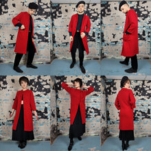 Load image into Gallery viewer, 60's Red Wool Sweater Jacket