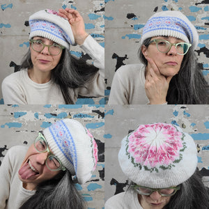 Pastel Patterned Acrylic Beret