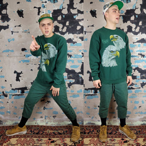Bald Eagle Sweatshirt - Green & Gold