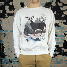 Load image into Gallery viewer, Vintage Whitetail Deer - Scenic Sweatshirt - sz L