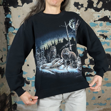 Load image into Gallery viewer, Wolves-a-Plenty Sweatshirt - Moon + Wolf - sz S