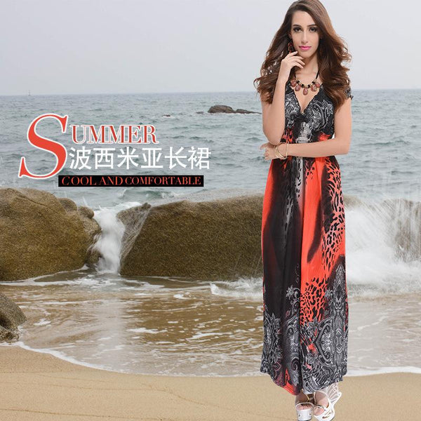 European And American Women Summer New Products New Beach Skirt Printed Bohemian