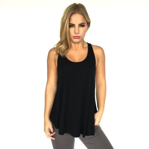 European And American Women Solid Color Sleeveless Sling Irregular T-shirt Women Bottoming Top