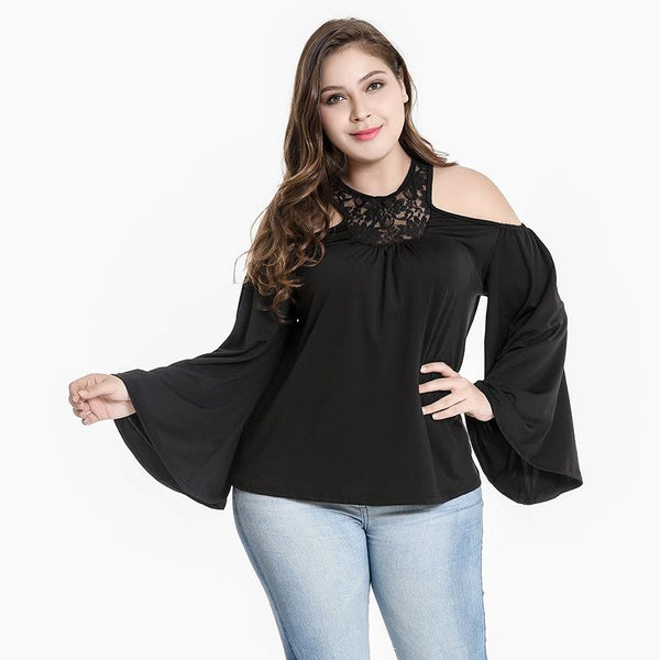 Wome Spring And Autumn New Style Solid Color Strapless Sexy Top Loose Hedging Long Sleeve Women