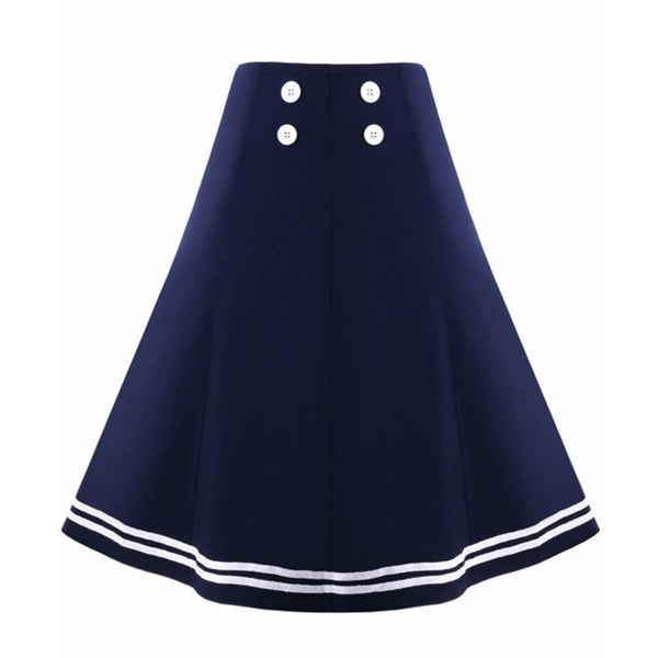 Europe And The United States Retro Skirt Skirt Mid-length New Product Large Swing Skirt Solid Color Women Clothing