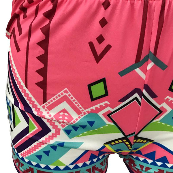 Europe And The United States Printed Tight Shorts Slimming Hot Pants European And American Women Clothing