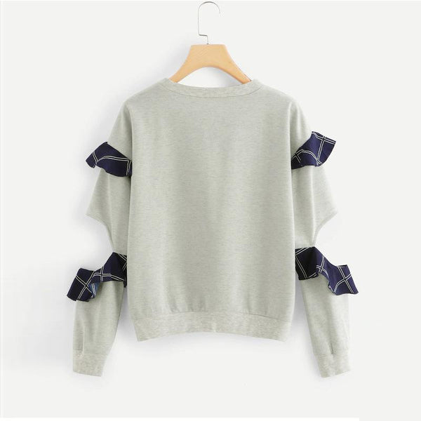 Women Autumn And Winter New Plus Velvet T-shirt Sweater Solid Color Loose Super Fire Top Long Sleeve