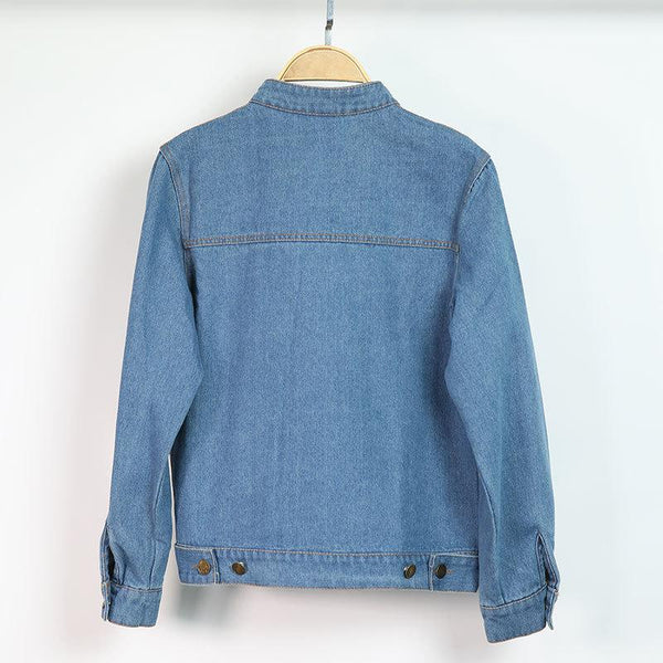Fashion Korean Girl Jacket Casual Women Denim Clothes Personality Loose Women Lapel Button Trend All-match