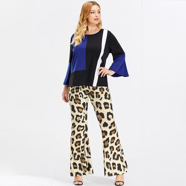 European And American Style Women Printed Leopard Pants 2020 Spring New
