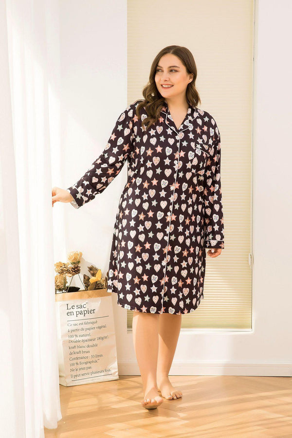Summer Short-sleeved Floral Casual Large Size Loose Mid-length Cardigan Home Skirt Dress Women Clothing
