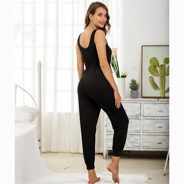 Cross-border Ladies Knitted Sports Jumpsuit Autumn European And American Home Service