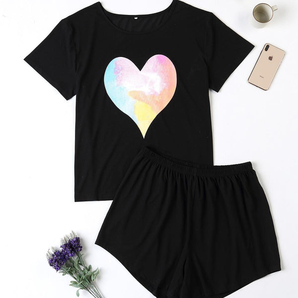 Plus Size Home Service Suit Comfortable Pajamas Ladies Comfortable Summer Short-sleeved Cotton Home Service