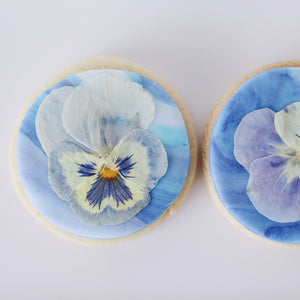 Edible Flower Vegan Biscuits