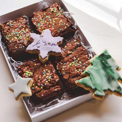 Christmas Biscuits And Brownie Set