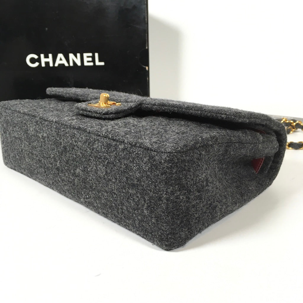 Chanel Vintage Tweed Flap