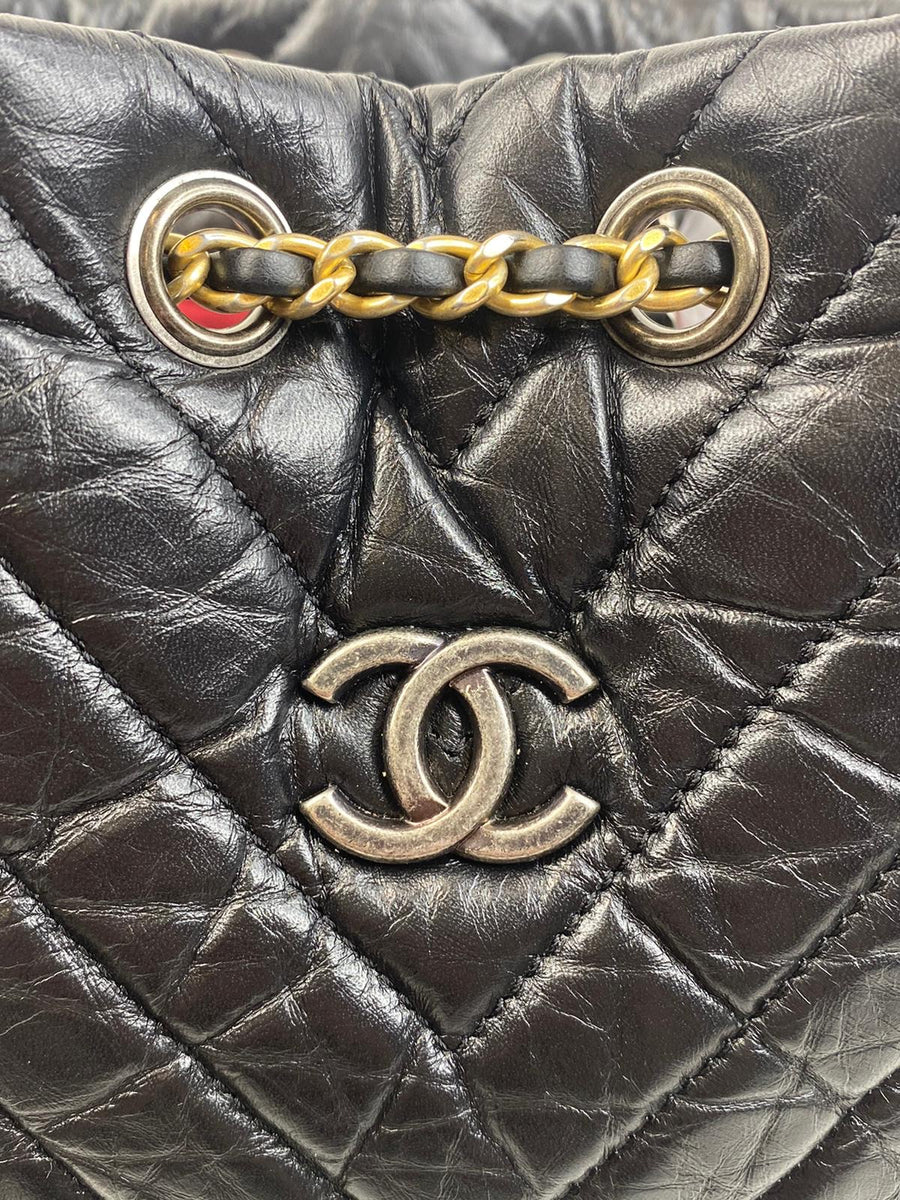 Chanel Chevron Gabrielle Backpack