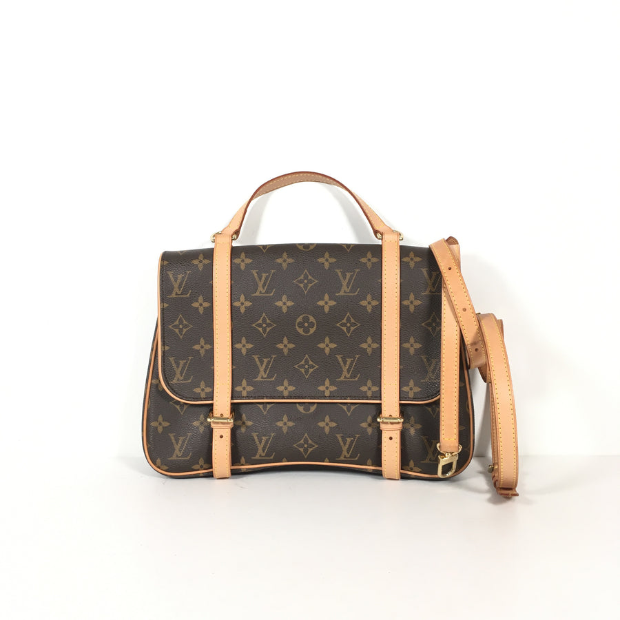 Louis Vuitton Marelle Sac A Dos in Brown with the classic Louis Vuitton pattern