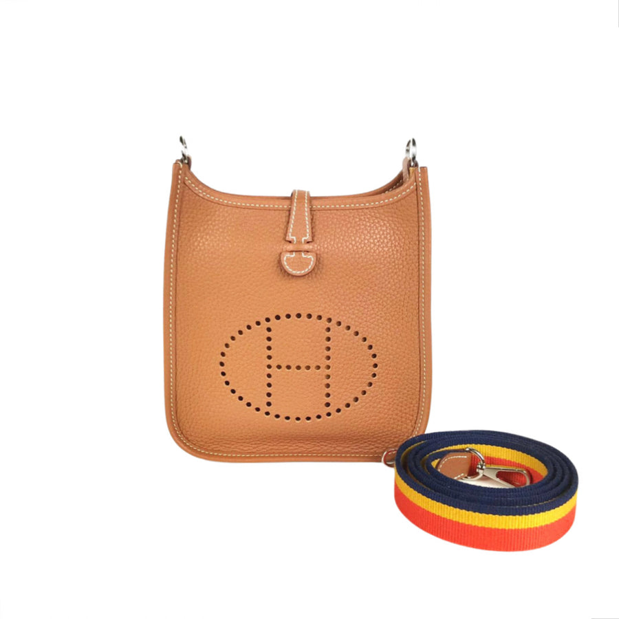 Hermes Mini Evelyne in Brown