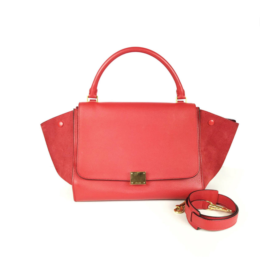 Celine Trapeze Bag in Red