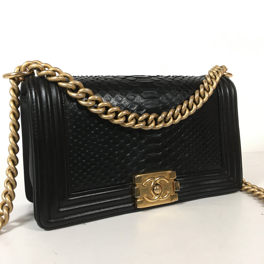 Chanel Python Boy Bag