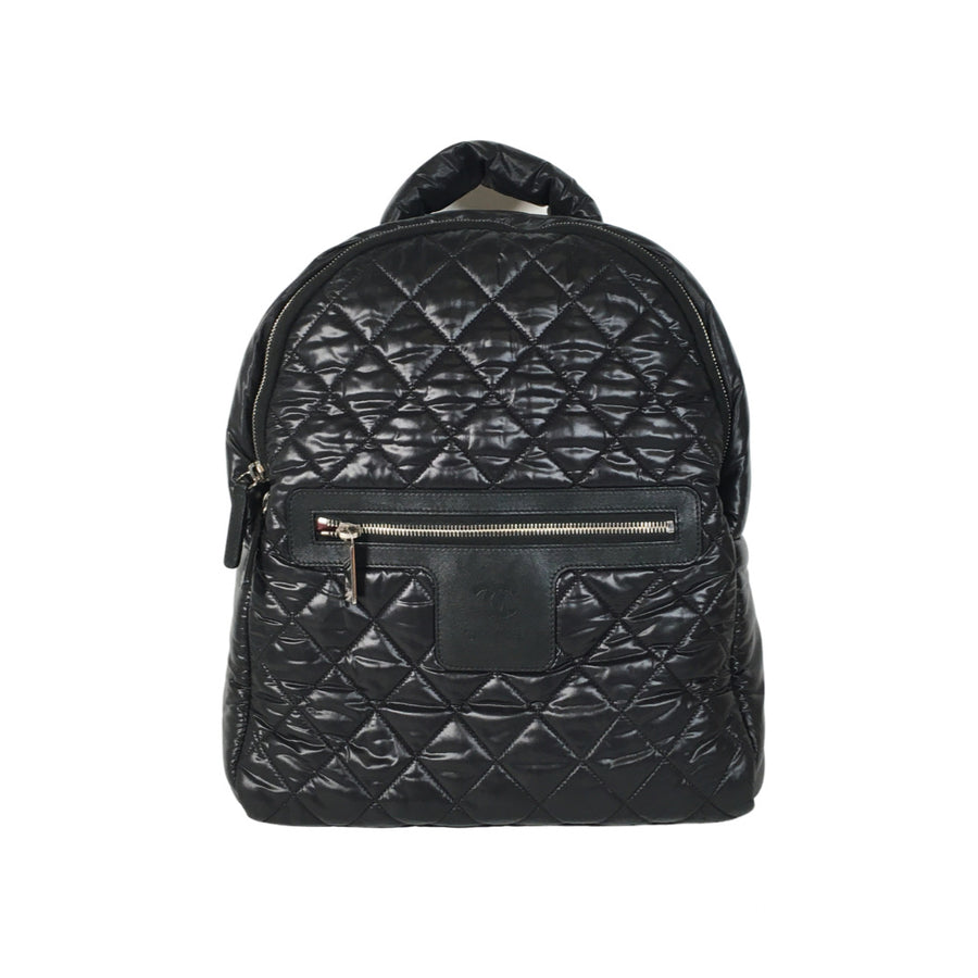 Chanel Coco Cocoon Backpack in Black
