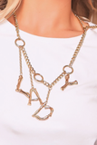 Alexa Gold 'LADY' Necklace