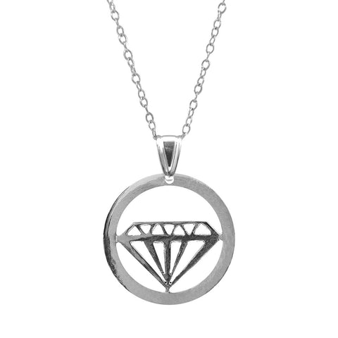 Faceted Diamond Disc Paradise Sterling Silver Necklace
