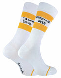Mens Novelty Bring Me Beer & Vodka Socks
