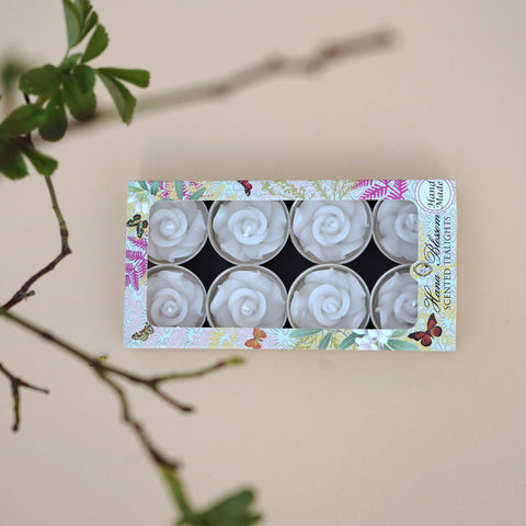 White Rose Scented Tealights