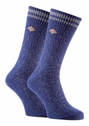 2 Pack Mens Cotton Chunky Knitted Formal Socks