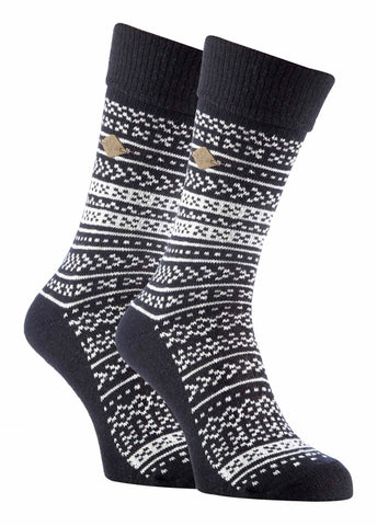 2 Pack Mens Fairisle Formal Dress Socks
