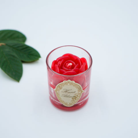 Small Votive Red Rose Natural Wax Scented Candle