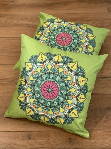 Cushion Covers Style 56408 Cotton Linen 45 x 45 cm for Sofas, Beds