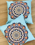 Cushion Covers Style 56406 Cotton Linen 45 x 45 cm for Sofas, Beds