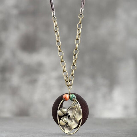 Vintage Acorn Necklace