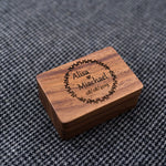 Personalised Wooden Cufflinks and Tie Bar Set
