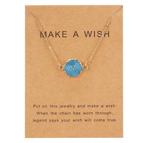 Make A Wish Fashion Round Resin Necklace