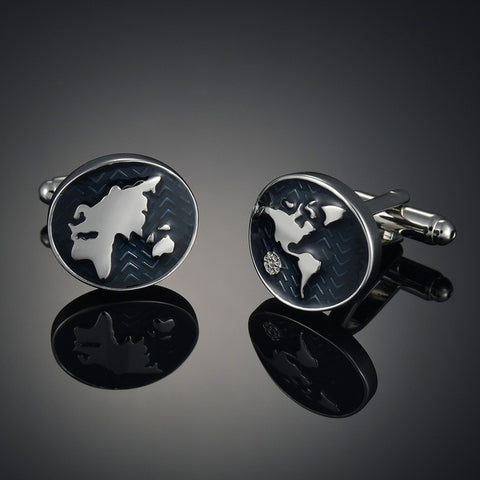 World Continents Cufflinks