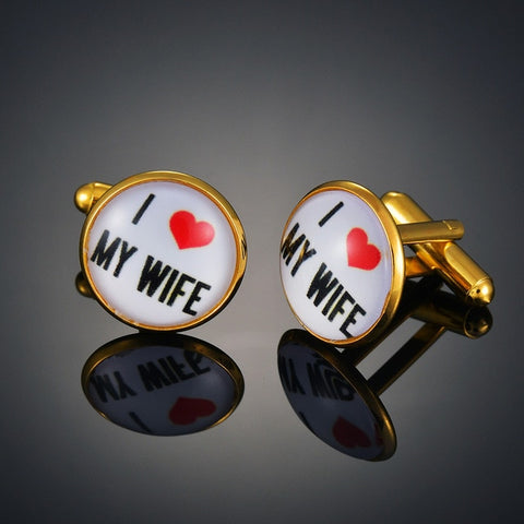 """I Love My Wife"" Cufflinks"