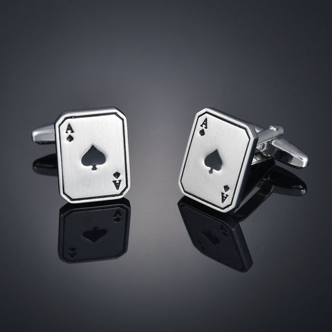 Ace of Spades Metal Cufflinks
