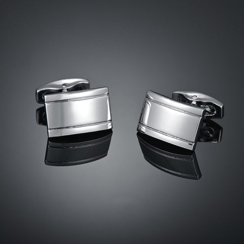 Gents Simple Metal Cufflinks