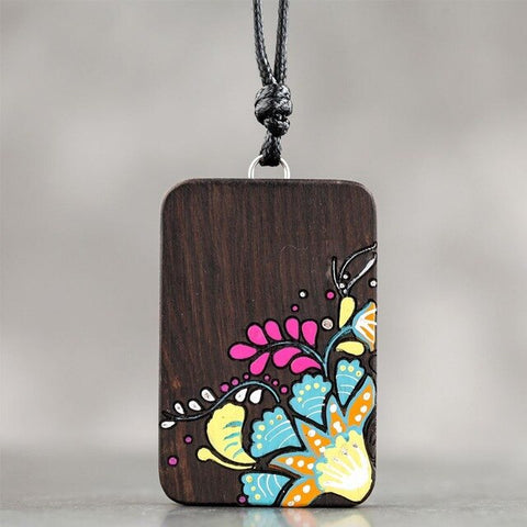 Sandalwood Print Necklace