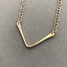 Load image into Gallery viewer, bronze wire V necklace by Red Door Metalworks