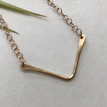 Load image into Gallery viewer, v necklace by Red Door Metalworks
