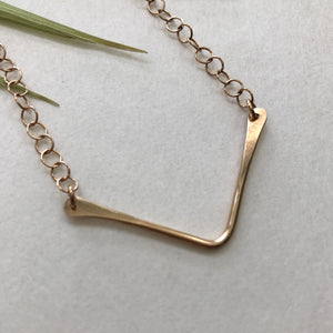 v necklace by Red Door Metalworks