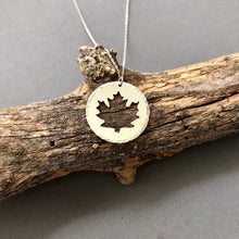 Load image into Gallery viewer, Maple Leaf - sterling silver necklace