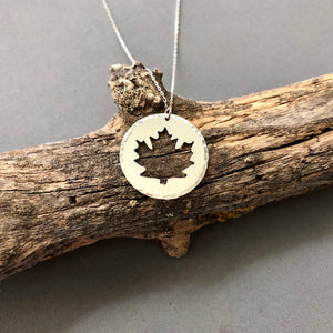 Maple Leaf - sterling silver necklace