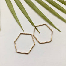 Load image into Gallery viewer, Hexagon Hoop Earrings - W5